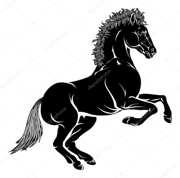 Stylised Horse Illustration Stock Vector Krisdog #26026837