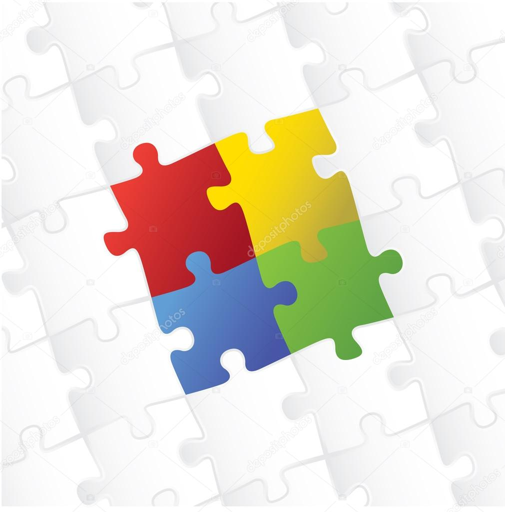 Blank puzzle template background — Stock Photo © i3alda #13896533
