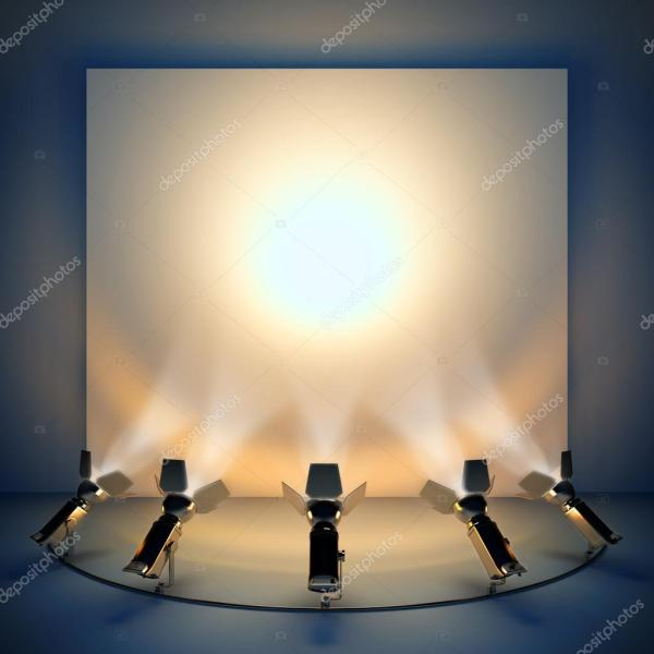 Empty Background With Stage Spotlight. Stock