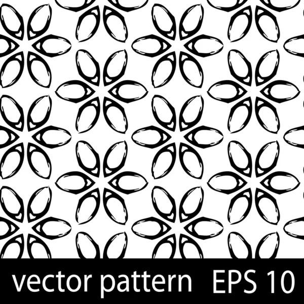 Black and white geometric figures seamless pattern