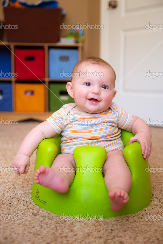 babies sit up chair reading lounge baby boy using training bumbo seat to stock photo image