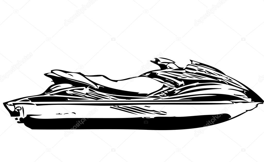 Sea doo — Vetores de Stock © roman101 #13405880
