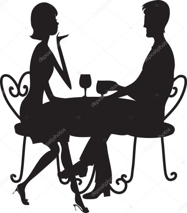 couple silhouette stock vector