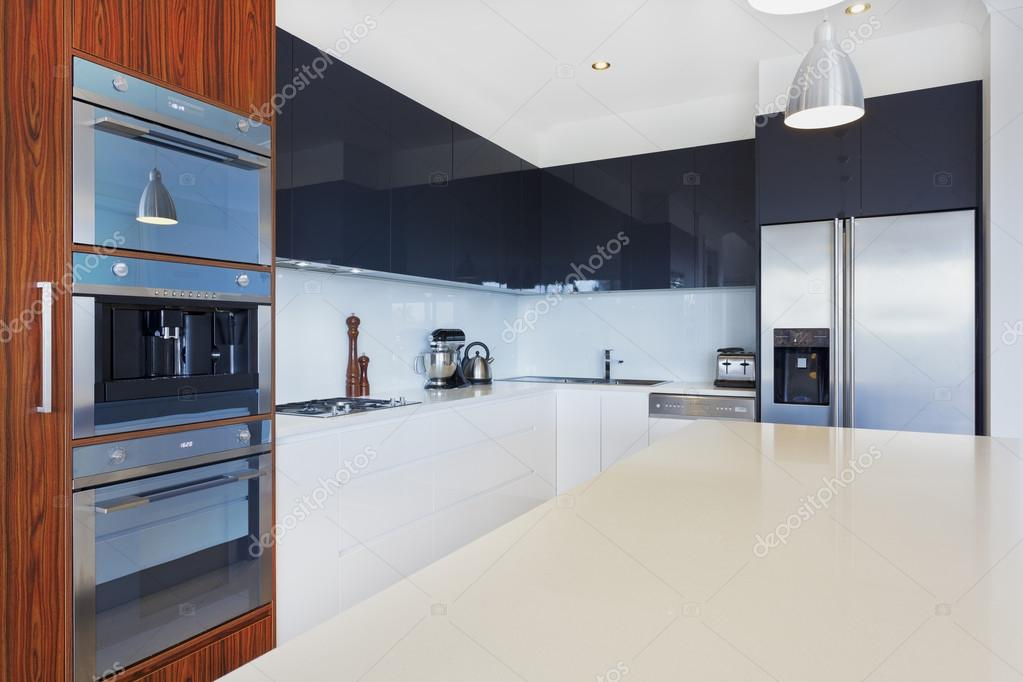 kitchen ceiling fixtures wood shelves 新厨房 图库照片 c zstockphotos 22906686 现代新厨房与昂贵的装置 照片作者zstockphotos