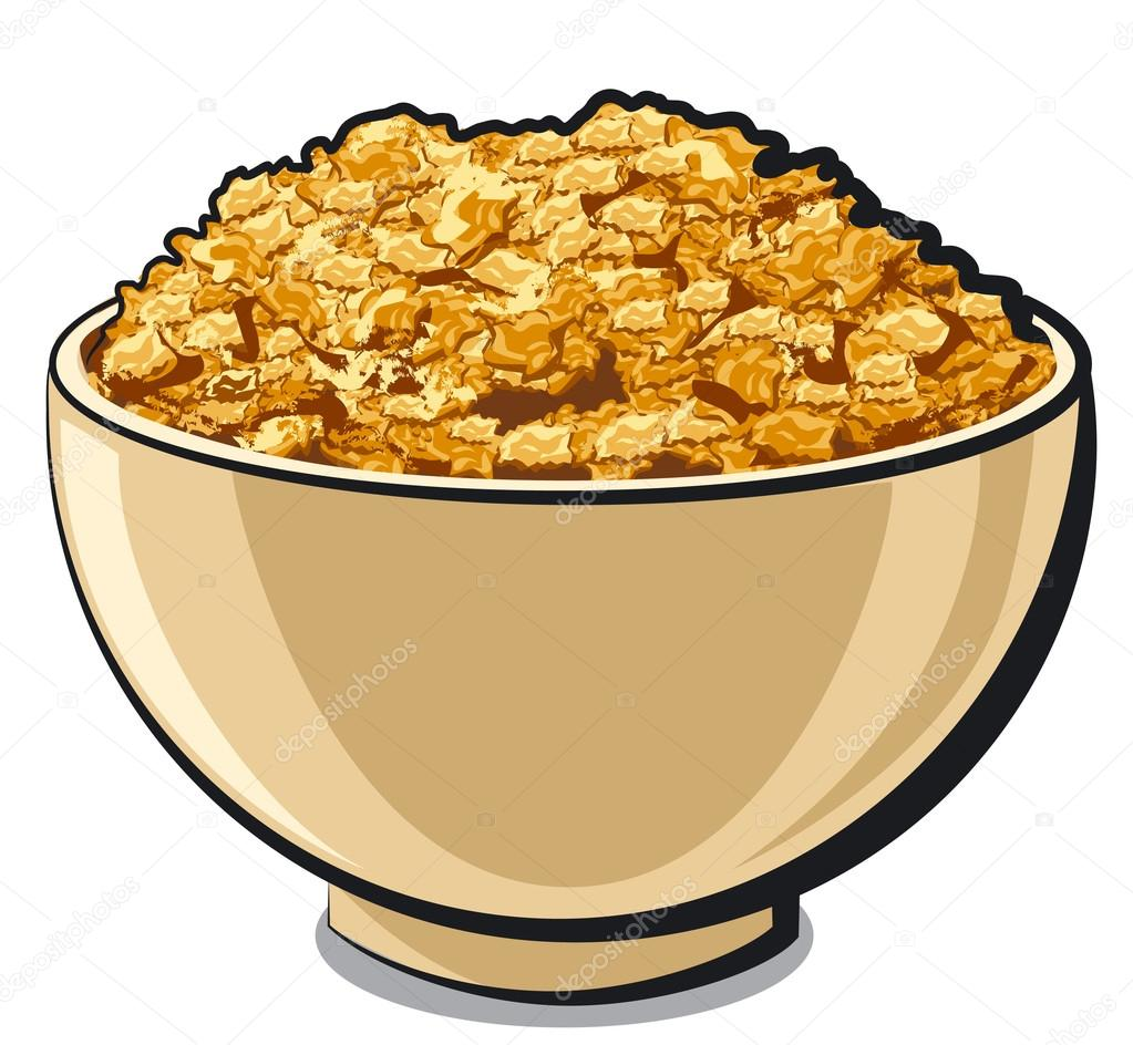 hight resolution of tasty cornflakes stock vector