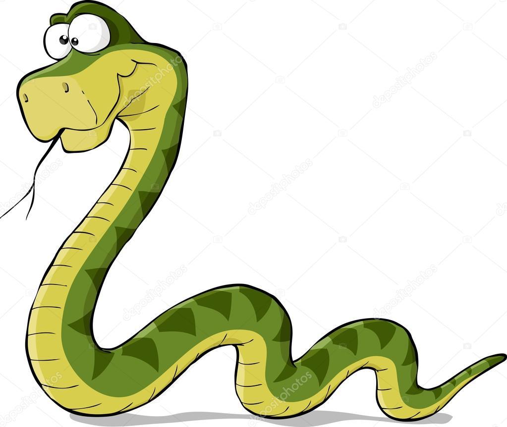 Cartoon snake — Stock Vector © dedMazay #13907142