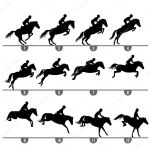 ᐈ Horses Silhouette Stock Icon Royalty Free Horse Jumping Silhouette Vectors Download On Depositphotos