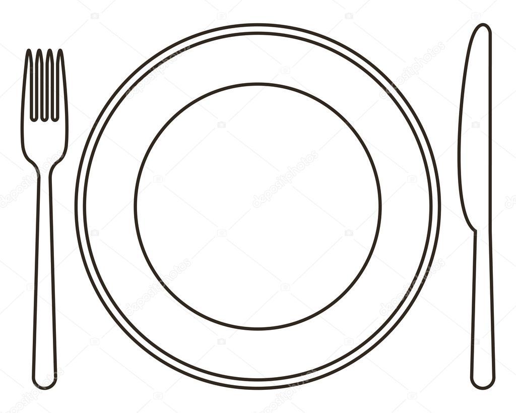 Assiette Fourchette Et Couteau