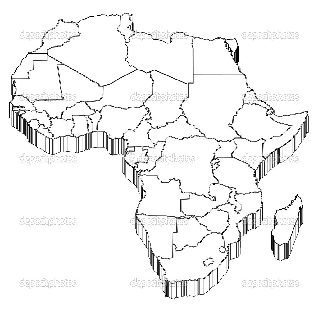 Africa map silhouette — Stock Vector © JBOY24 #38268779