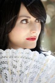 beautiful woman with snow white