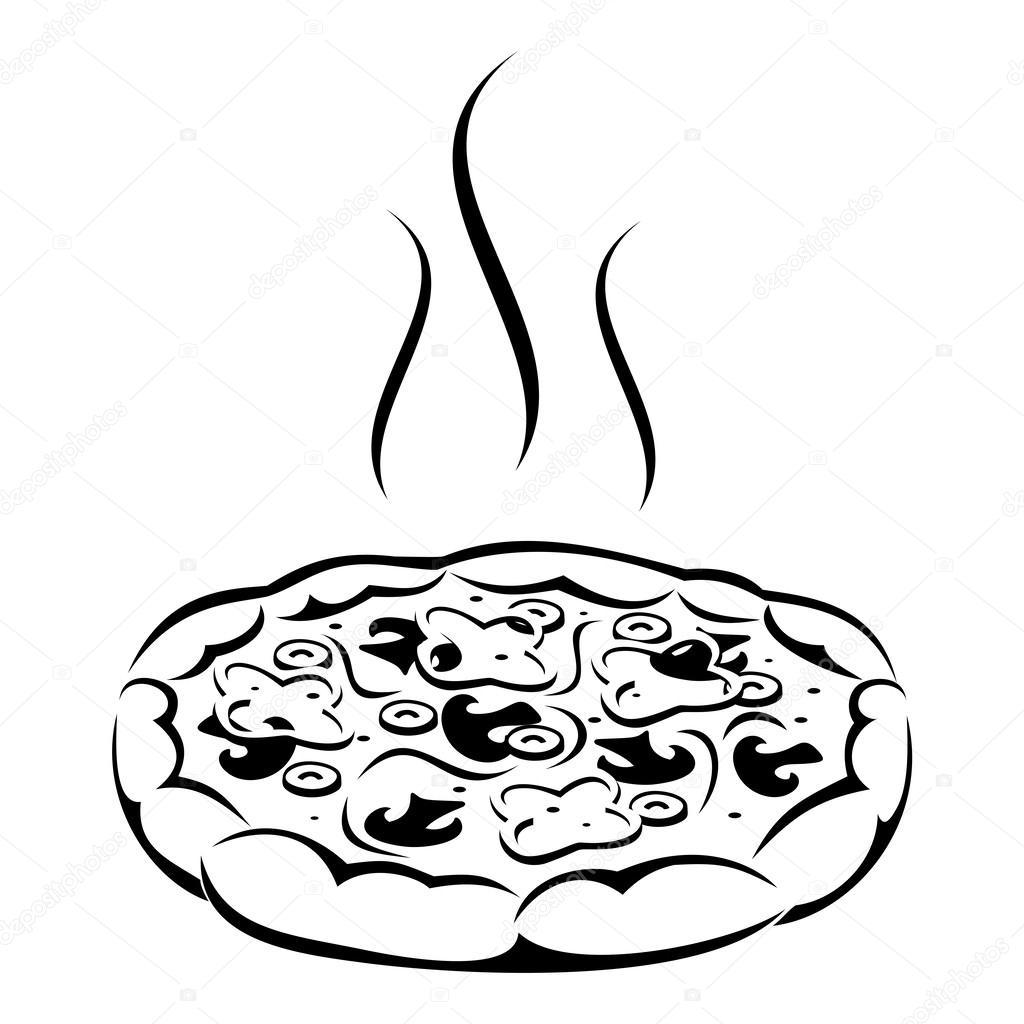 Pizza Vector Black Silhouette