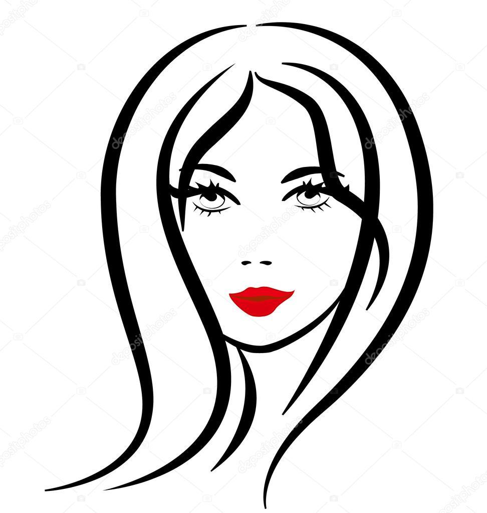 Woman face silhouette logo — Stock Vector © Glopphy #50325227