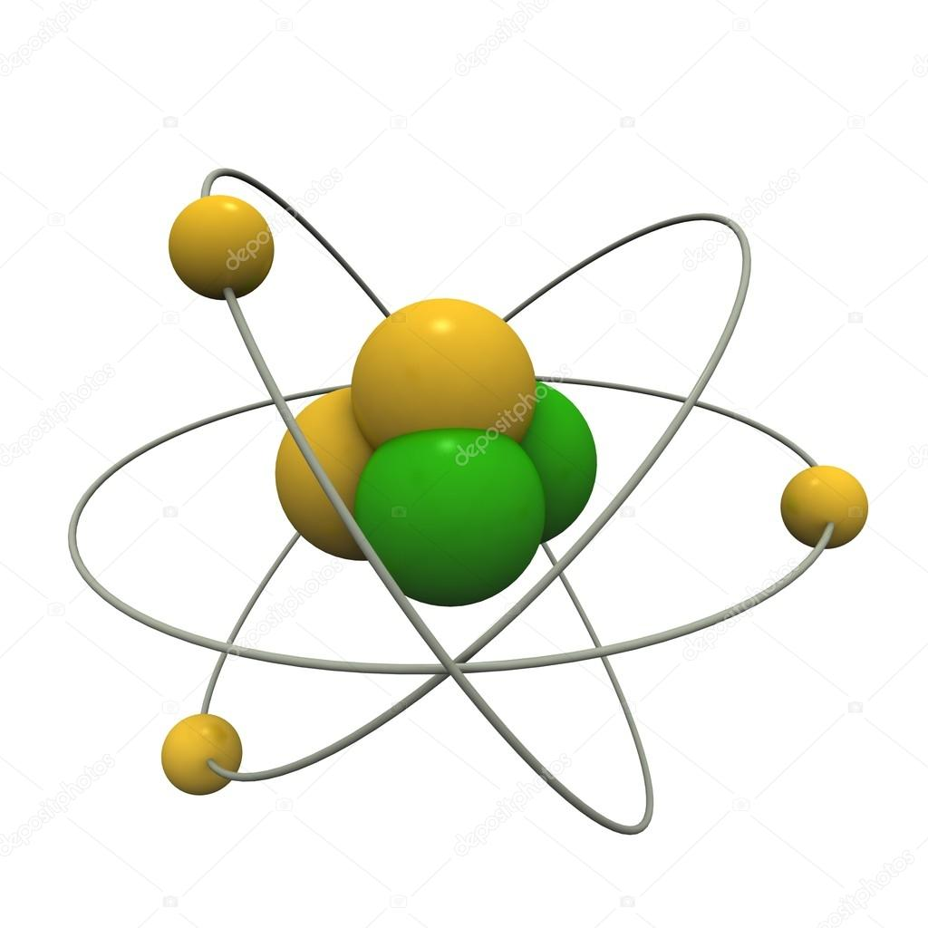 hight resolution of beautiful atom model photo by master3d