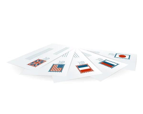 Debt Envelope Scattered Stack — Stock Photo © albund #51070579