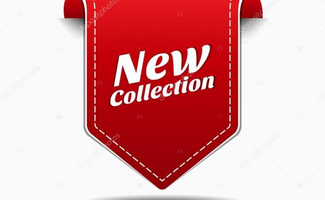 New Collection Red Label Icon Vector Design Stock Vector