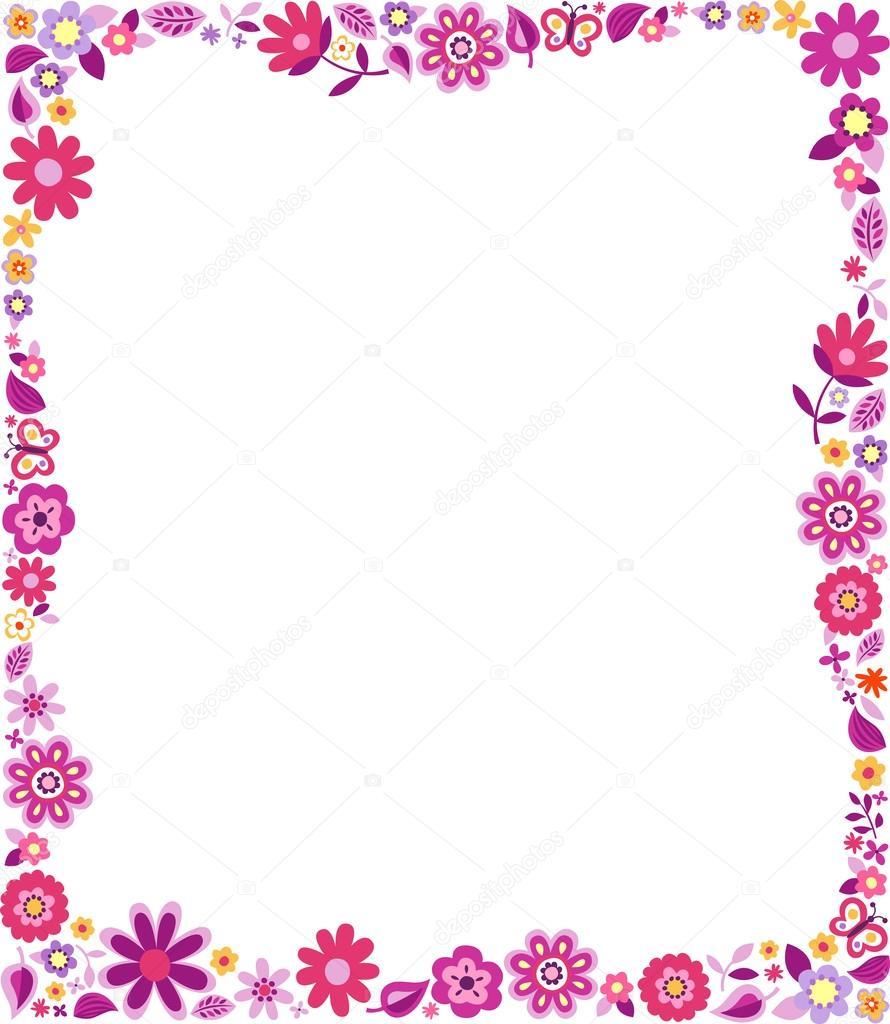Cute Designs Printer Page Wallpapers Arma 231 227 O De Borda Padr 227 O Floral Vetor De Stock 169 Pauljune