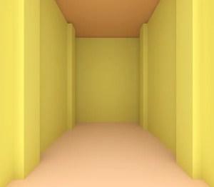 Empty Yellow Room Background 4
