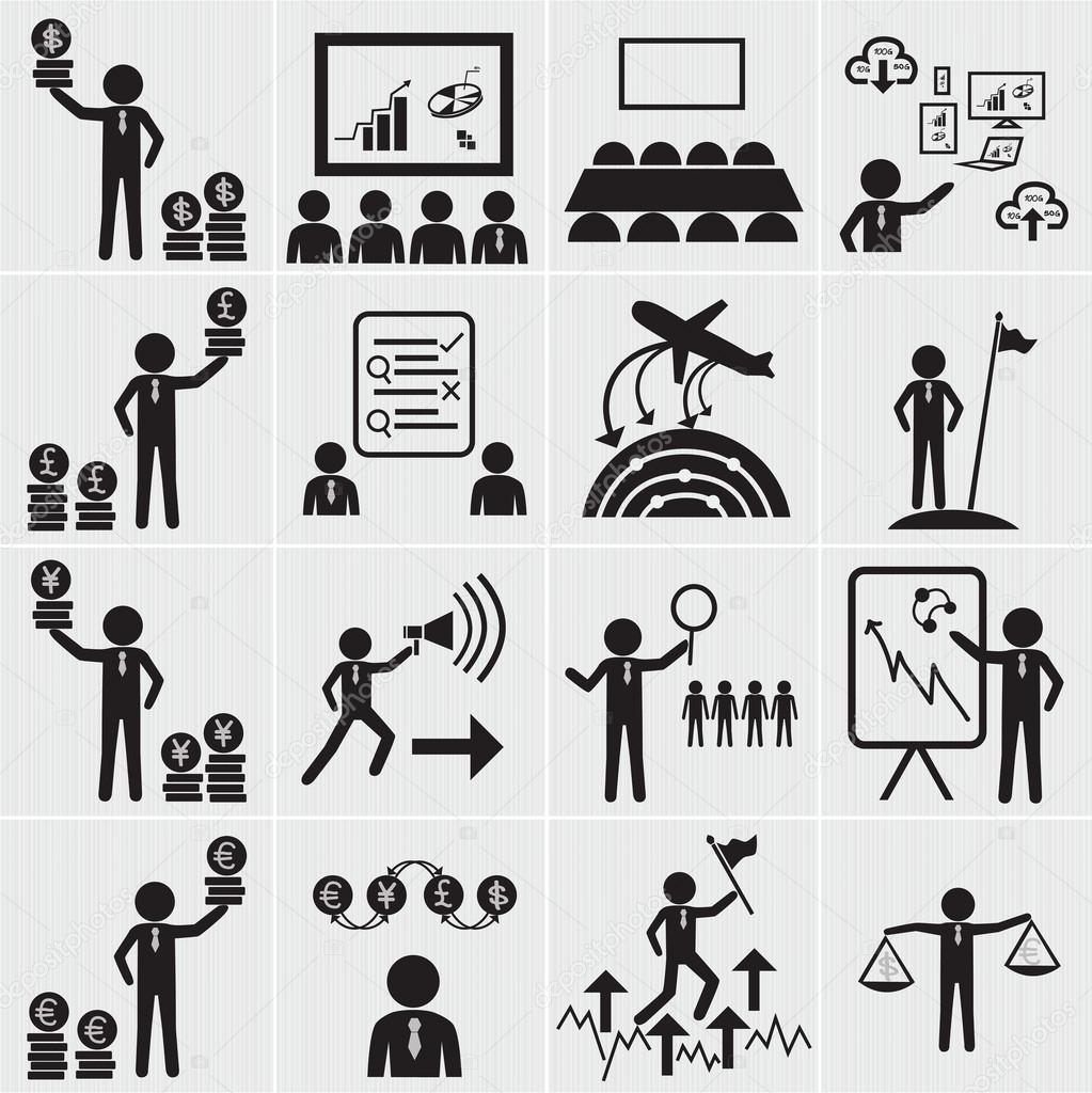 인적 자원, 사업 및 관리 아이콘 설정 — 스톡 벡터 © sumetho #30793637