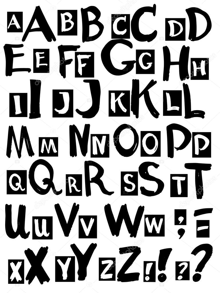 lettere dell'alfabeto — Vettoriali Stock © vitatarpan