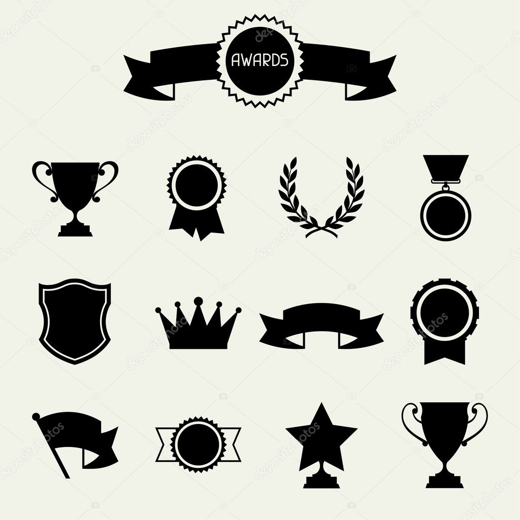Trophy And Awards Icons Set