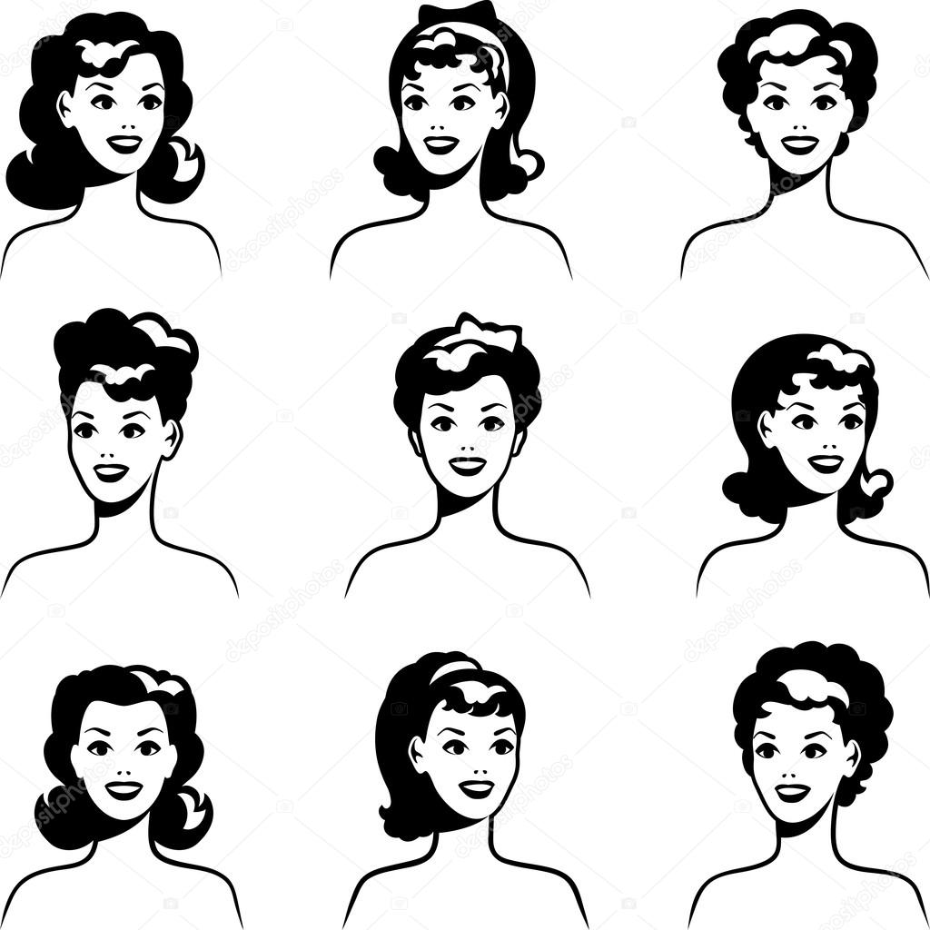 Collection Of Portraits Beautiful Pin Up Girls S Style