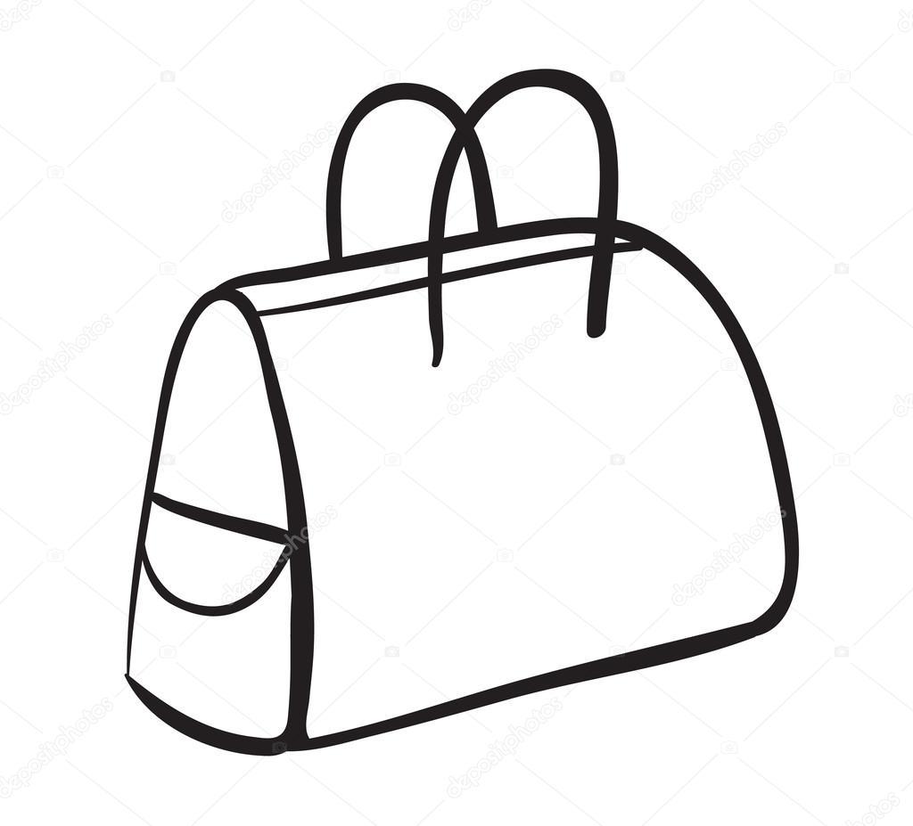 uno schizzo di borsa — Vettoriali Stock © interactimages