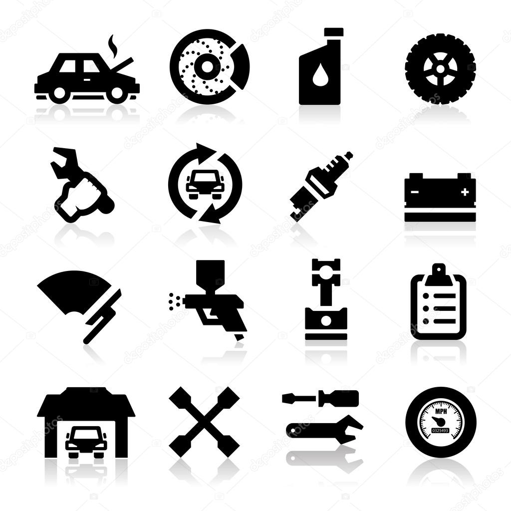 Auto repair Icons — Stock Vector © Tantoon #24155729