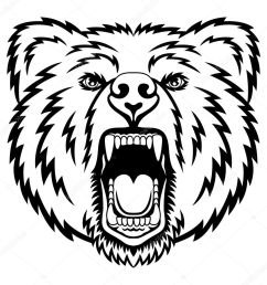 a bear head logo this is vector illustration ideal for a mascot and tattoo or t shirt graphic vector by komissar008 [ 1024 x 1024 Pixel ]