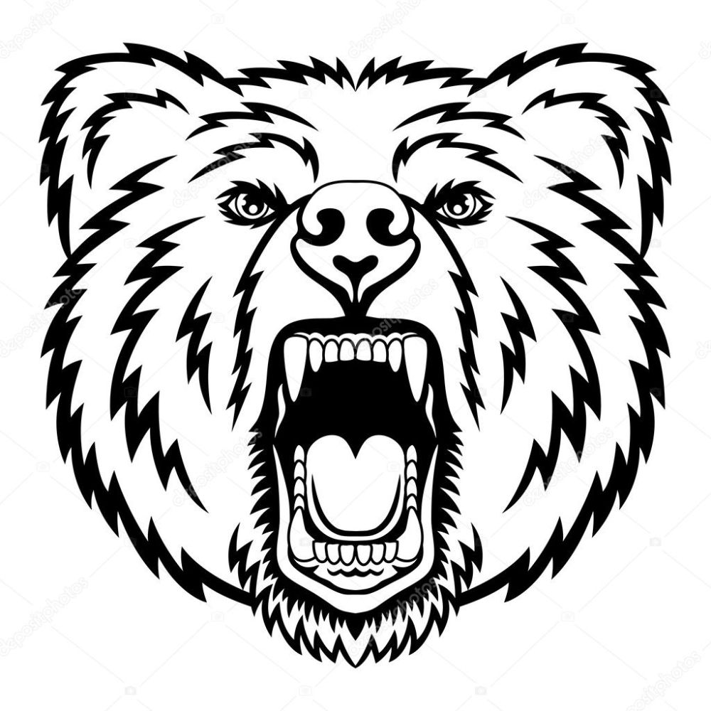 medium resolution of a bear head logo this is vector illustration ideal for a mascot and tattoo or t shirt graphic vector by komissar008
