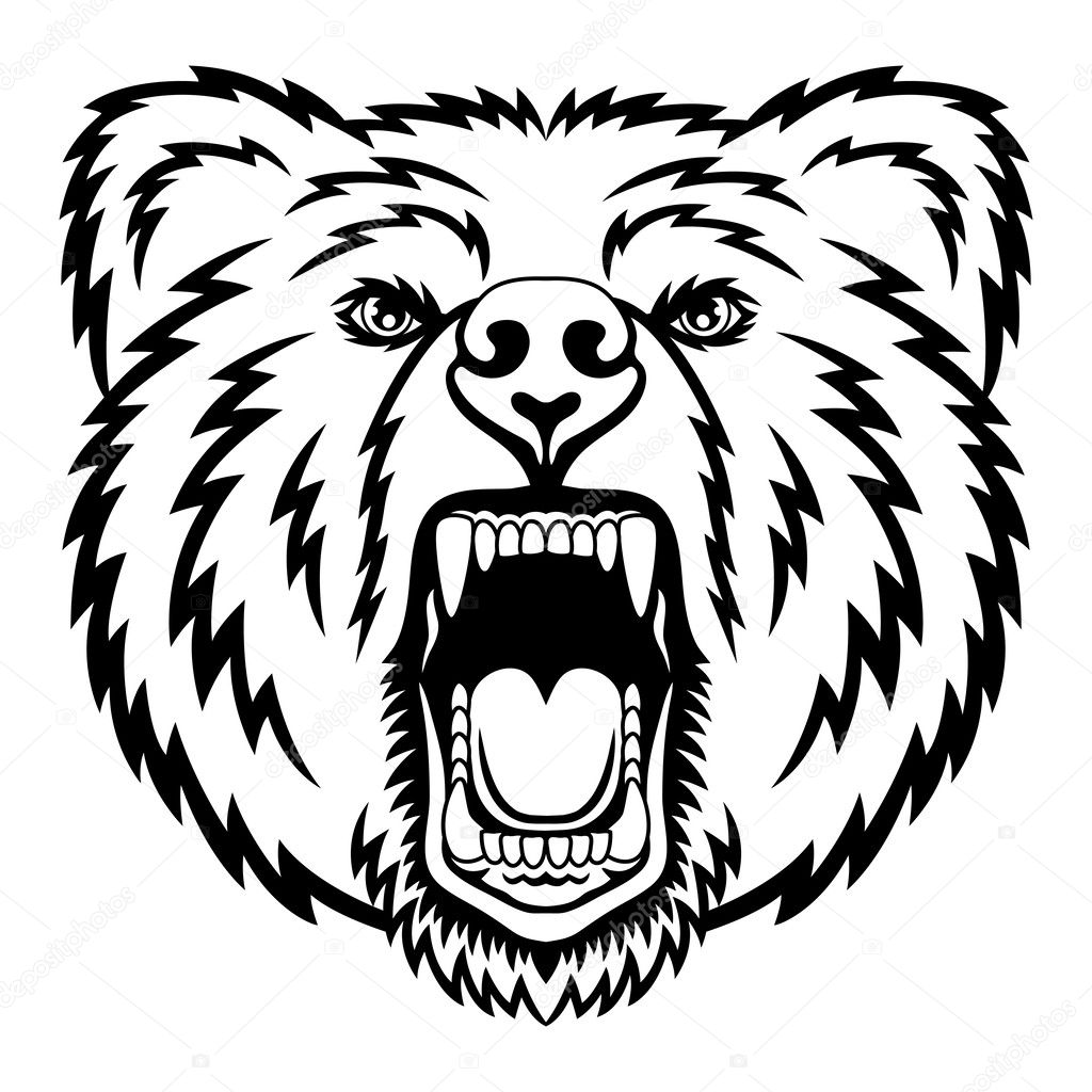 hight resolution of a bear head logo this is vector illustration ideal for a mascot and tattoo or t shirt graphic vector by komissar008
