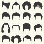 outline girl curly hair cut