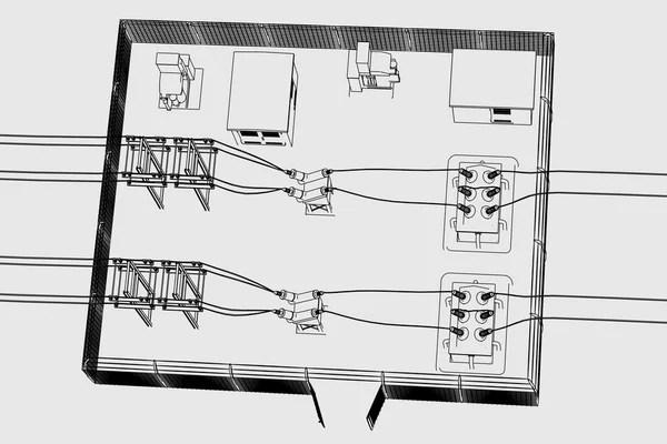 Substation part — Stock Photo © 3drenderings #10088999