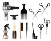 hair styling tools stock