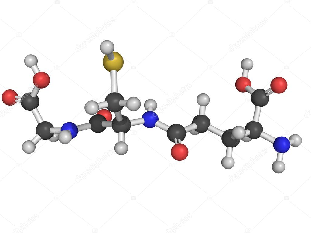 Chemical structure of glutathione — Stock Photo