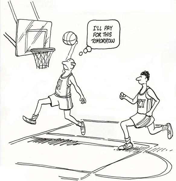 basketball cartoons stock photos