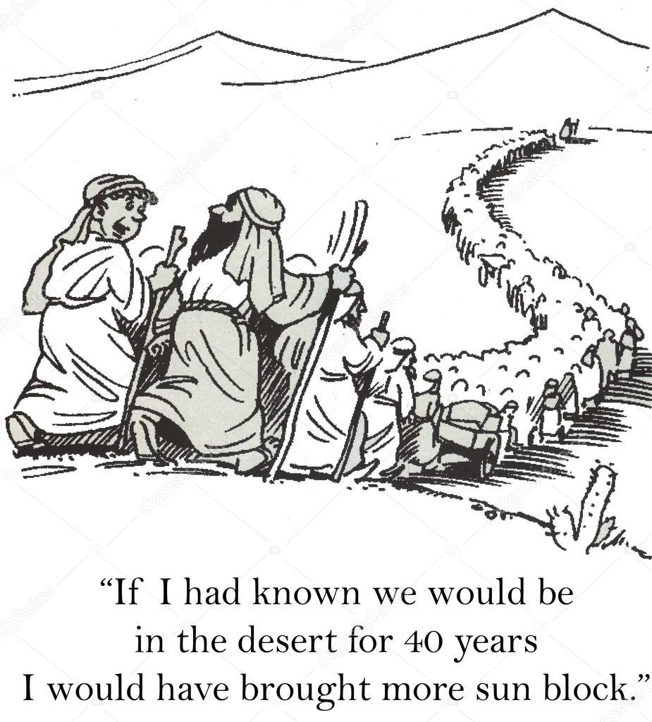 Moisés conduce a los judíos en el desierto — Foto de stock