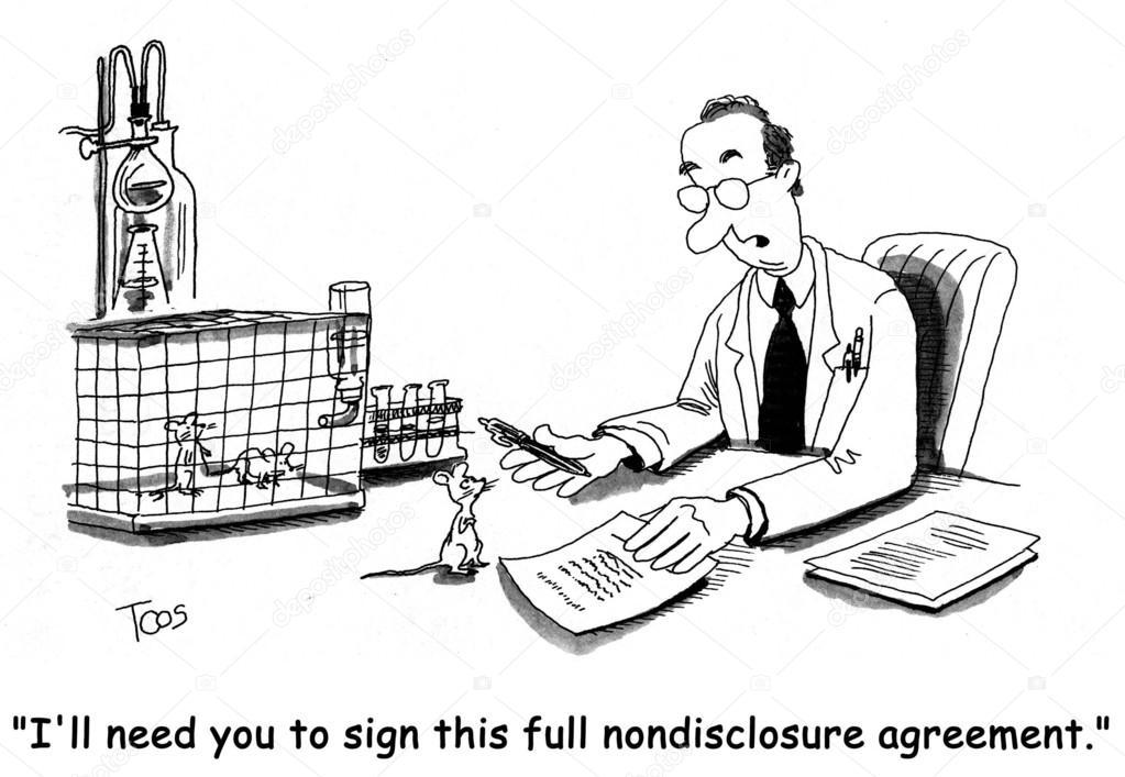 acuerdo de confidencialidad completa no — Foto de stock