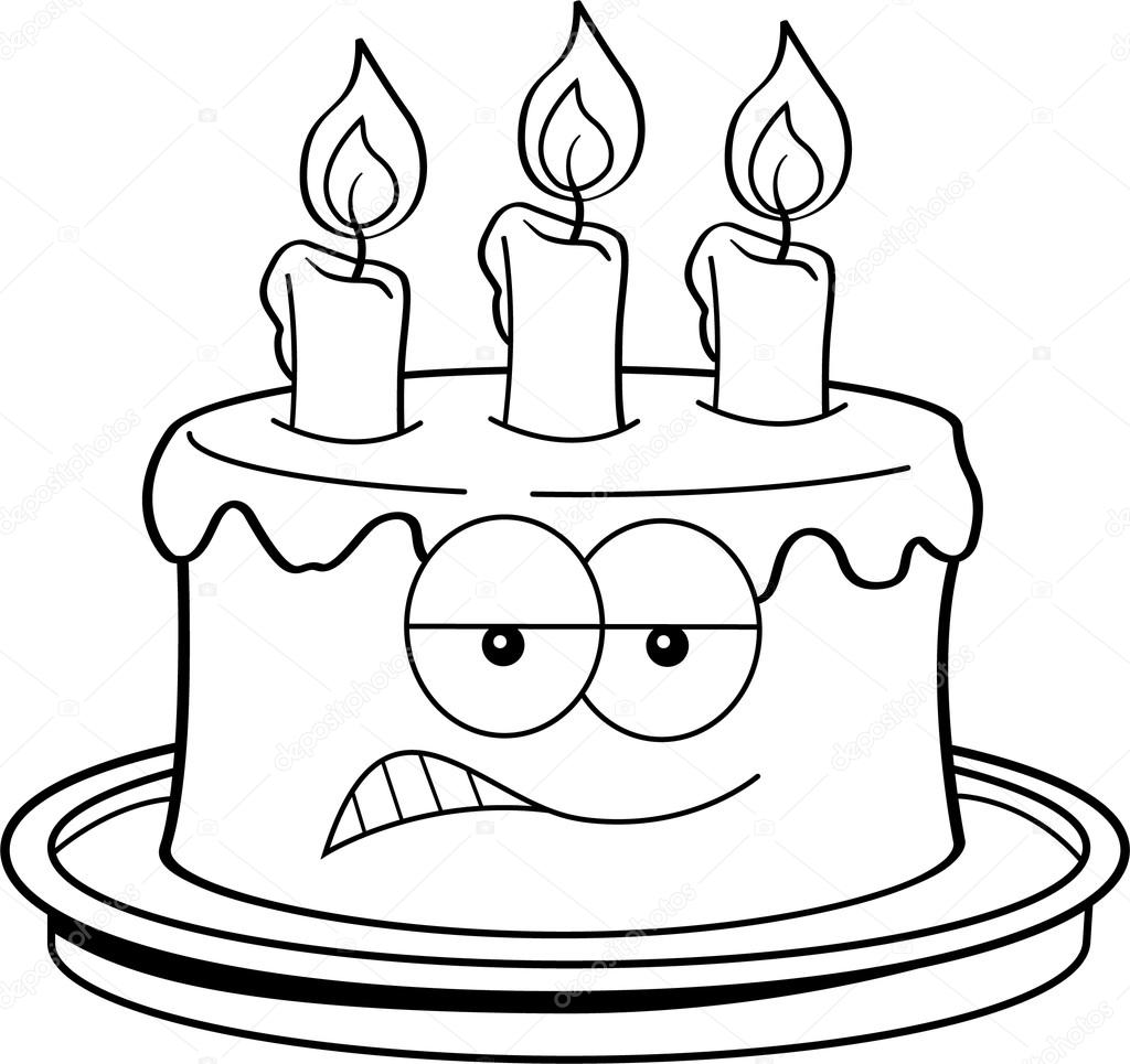Cartoon Angry Cake