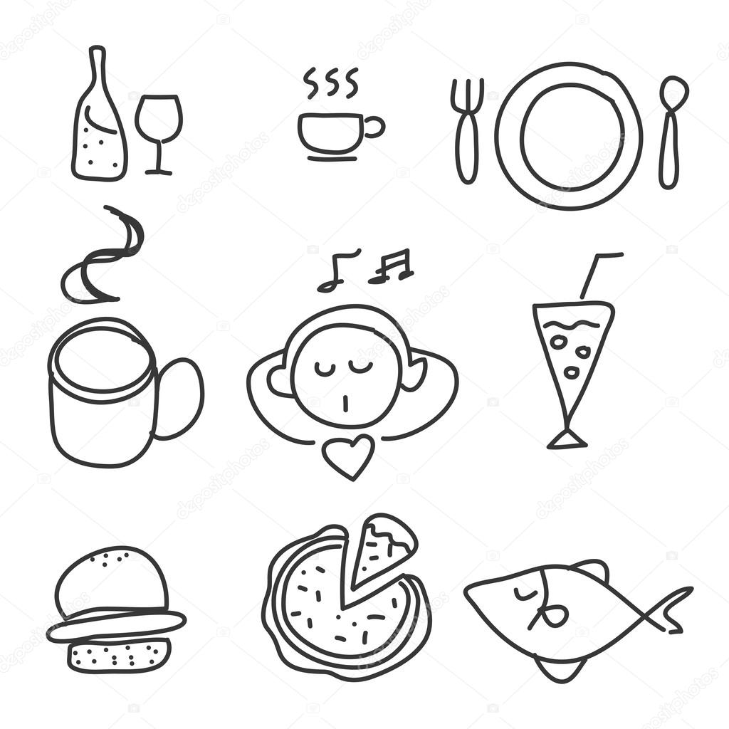 Food Drink Icon Set