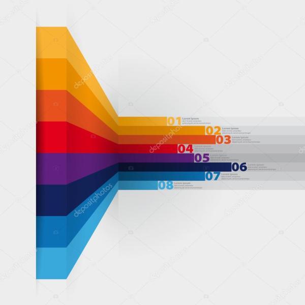 Vector Web Design Template - Horizontal Lines In