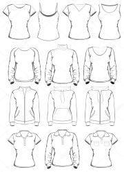 outline template clothes clothing templates sketch depositphotos jackets st coat guide sketches