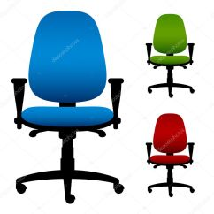 Office Chair Illustration Swivel West Elm Chairs  Stock Vector Happyroman 12333122