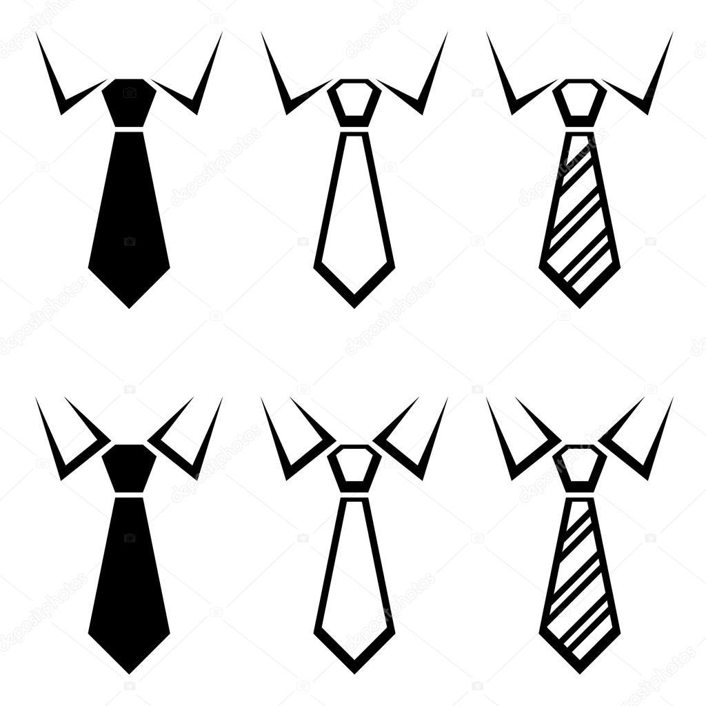 Symboles De Cravate Noire