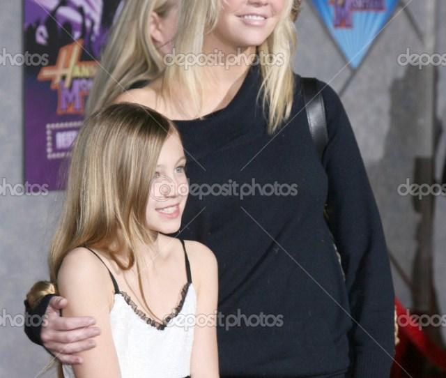 Heather Locklear Y Su Hija Foto De Stock