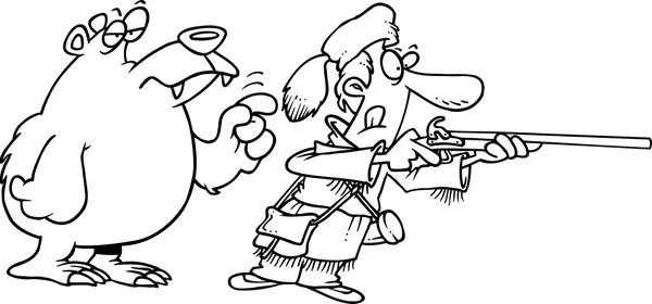 Cartoon Bear Hunter — Stock Vector © ronleishman #14002887