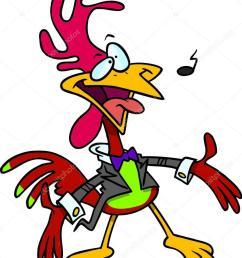 cantante de pera de gallo de dibujos animados dibujos gallo cantante vector de ronleishman vector de ronleishman [ 795 x 1023 Pixel ]
