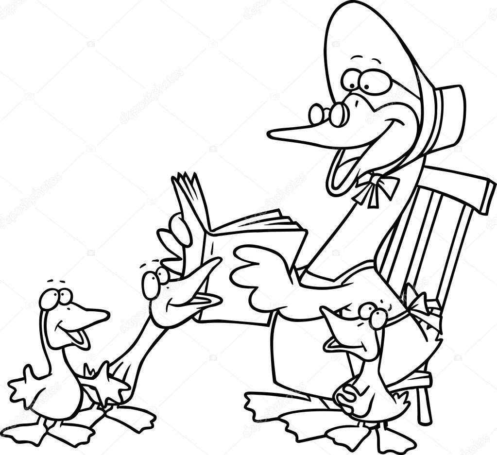 Cartoon Mother Goose — Stock Vector © ronleishman #13918259