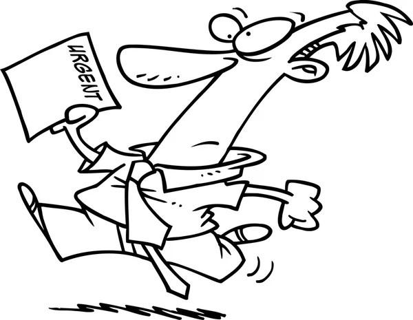 hombre de dibujos animados con importante lista — Archivo