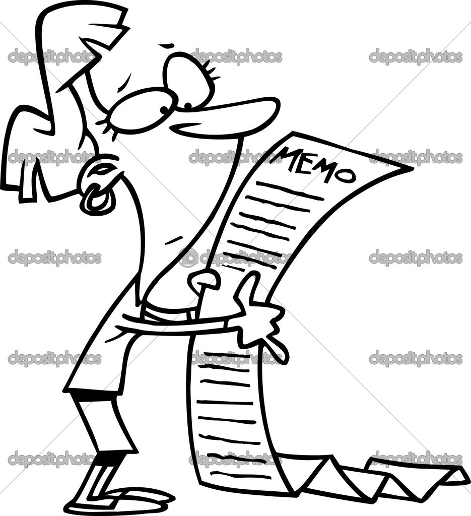 Cartoon Long Memo — Stock Vector © ronleishman #13950655
