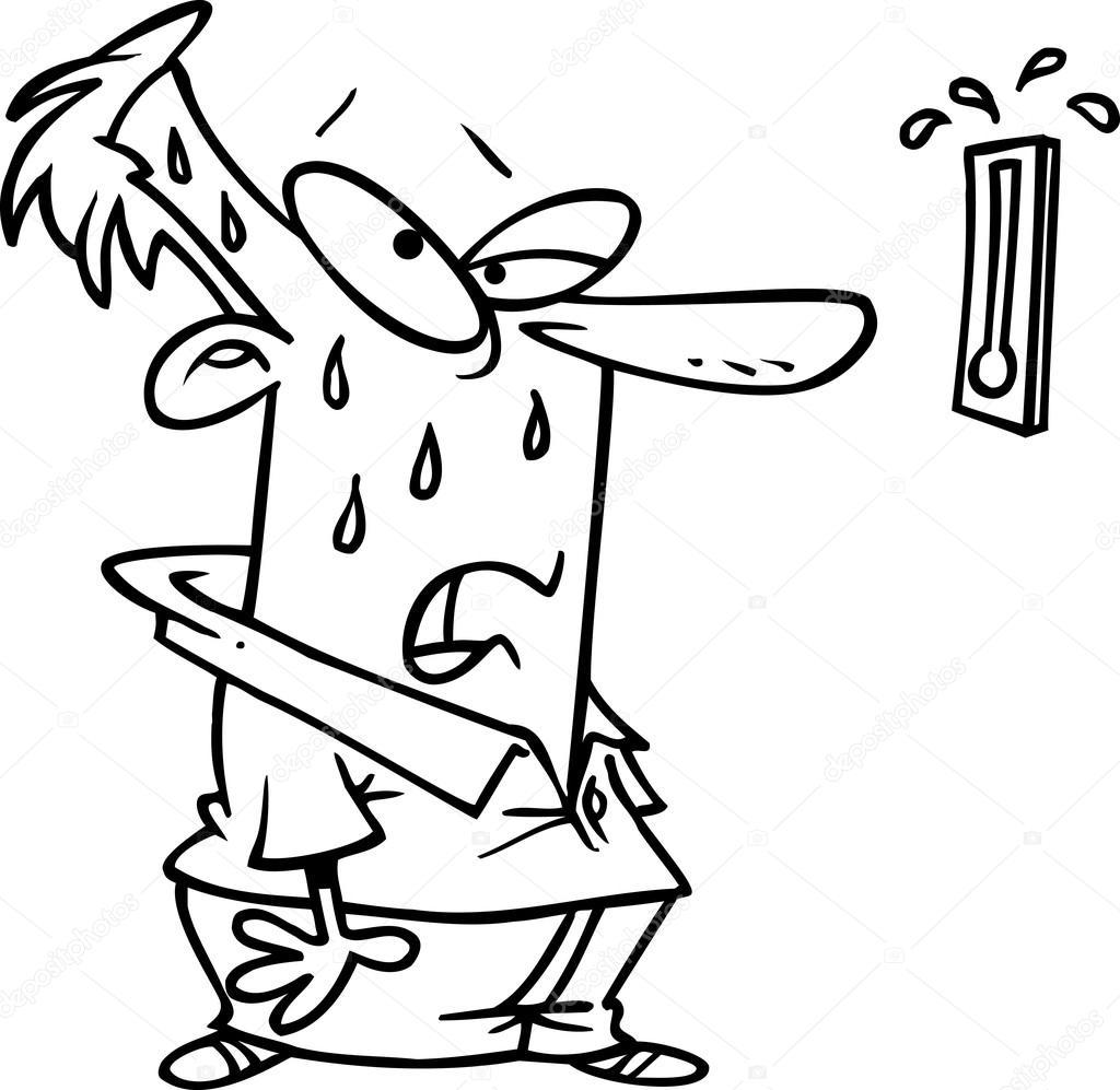 Cartoon hot day — Stock Vector © ronleishman #13951011
